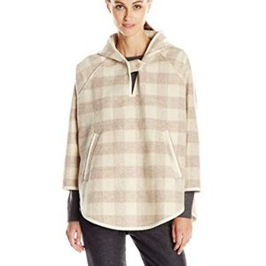 Woolrich wool plaid popover cape poncho size M